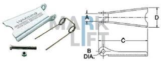 Защелка (предохранительный замок) для крюка А320